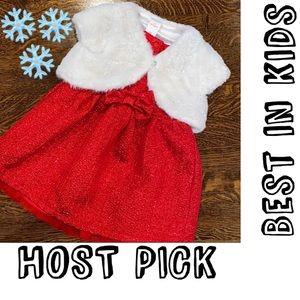 🎉HP🎉 Cat & Jack fancy holiday dress set